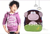 2013 wholesale children schoolbag,kindergarten bag,cartoon schoolbag for primary students,animal kind lovely bag for child