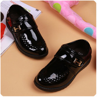 Free Shipping 2014 spring and autumn children shoes fashion male child formal black leather single  performance tuxedo shoes