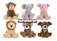 Can Make Sounds,Soft Mini Six Animals for 0-2 years old baby,Monkey, Dog, Pig, Elephant,  Lion and Tiger, Educational Toys