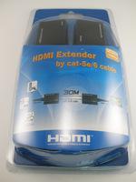 HDMI Over RJ45 CAT5e CAT6 UTP LAN Ethernet Balun Extender Repeater - 1080p 3D