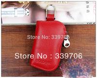 Candy color genuine leather cowhide multifunctional male women's zipper key wallets key bag $9.99/PCS