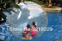 Freeshipping !! high qualtity  water walking ball diameter  1.2 M safety load 180 KG  0.8mm transparent PVC  durable and hard
