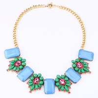 Free Shipping 2013 star luxurious necklace 2013 jewelry necklace fashion chunky turquoise necklace