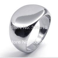 RA-122382 shiny Silver Stainless Steel rings men fashion brand plain U.S. SIZE 6 7 8 9 10 11 12 13 14