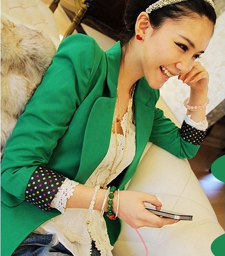 Green Blazer Women