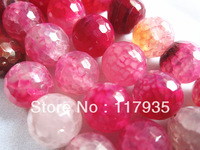 Min order $12 Wholesales Ball Beads for jewelry making 38 pcs 10mm Facet  Roseo dragon vein agate free shipping