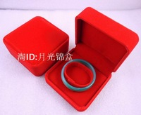 High-grade rice white velvet box crystal bracelet box princess European jewelry box jade bracelet