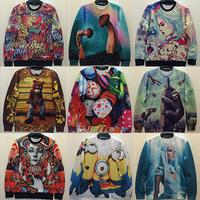 free shipping men/women print 3D Sweaters Cotton Galaxy hoodies 3D sweatshirt S/M/L/XL