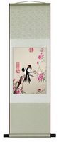Peach blossom ChunYan figure , Painting  Silk Embroidered (presents creative) 36*115Chinese Traditional Folk