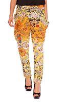 free shipping Retro color printing Haren pants, casual pants flower net pants women trouseres