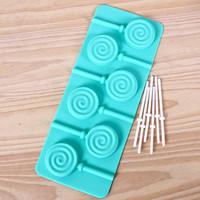 NEW product free shipping! 1PCS hot sale chocolate silicone lollipop mold fondant Cake decoration mold