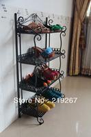 Simple wrought iron shoe  hanger multi-layer folding shoe  fashion shoe  storage shelf