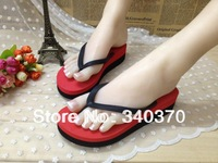 2014 newest summer flange flip flops,Korean women candy color fashion beach sandals,top quality,free shipping