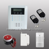 New product Wireless LCD GSM+PSTN dual network keypad wireless burglar alarm system