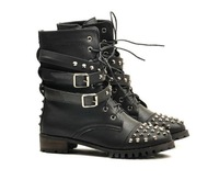2013 autumn and winter fashion popular buckle zipper boots motorcycle boots