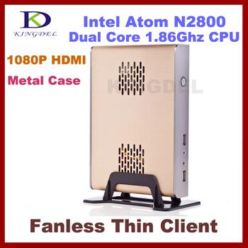 2GB RAM, 8GB SSD server Thin Client Terminal  Network computer Intel Atom N2800,32 Bit,1080P HDMI, support  Windows 7