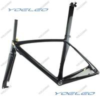 2013 Disc Brake Road Frame 100% Carbon Fiber Disc Road Bike Frame 3K Glossy BSA / BB30 + Fork + Seatpost Size:50/52/54/56/58cm