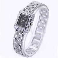 100% Brand New Fashion Silver Elegant Womens Ladies Stylish Bling Shining Analog Quartz Clock Gift Wrist Watch. Free Shipping
