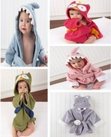 Free shipping  unisex baby bathrobe animal hooded boy girl/cotton towel kid's robe/children infant bathing robe