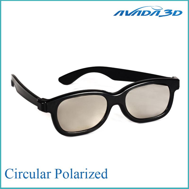 Free shipping 10pcs/lot Circular Polarized plastic disposable 3d glasses(China (Mainland))