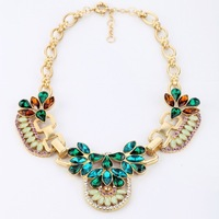 Free Shipping Chunky Crystal Statement Necklaces Fashion Crystal Thick Chain Necklace,Necklaces Jewelry For Women 2013