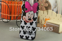 Mickey Mouse Silicone Case for iPhone 4S 4 Cartoon Printing Hard Back Case for iPhone Cell Phone with 8 Colors 1pc (PG207)