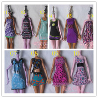 Free Shipping,3pcs clothes + 3pcs hangers doll accessories for Monster High Dolls