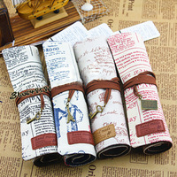 Min order $ 10 Free Shipping 2014 fashion student stationery Eiffel Tower Canvas pencil case storage box cosmetic bag