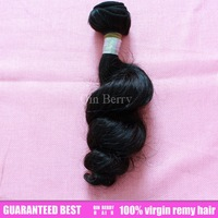 Free shipping queen 100 % virgin brazlian human remi hair products 3pcs lot 5a grade rosea body loose wave wavy natural color