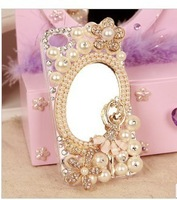 Ballet girl pearl mirror, diamond phone shell