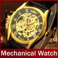 Fashion Brand Winner Band Stainless Steel Skeleton Hand Wind Mechanical Watch Man Dress Mechanical Wrist Watch Free Shipping