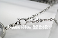 30pcs 18''+2'' extension 3mm flat cable O jumpring 316L stainless steel chain necklace for glass locket,no locket