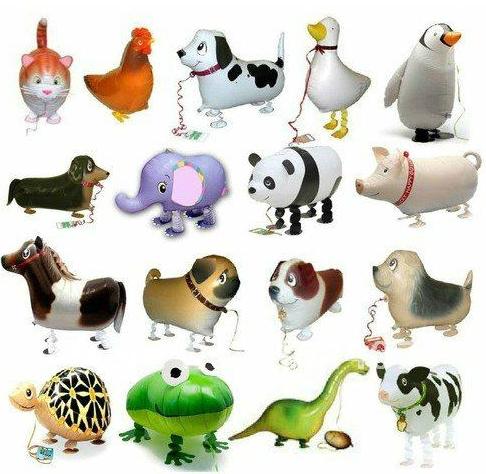 Free Shipping 20pcs/lot Assortment Design Walking Pet Balloon Hybrid Models of Animal Balloons Children Party Toys Boy Girl Gift(China (Mainland))