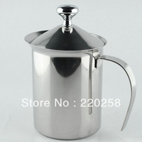 800ml sfactory direct sale stainless steel  coffee milk frother jug ,milk foamer,foam maker with filter free ship