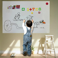 Soft magnetic whiteboard wall stickers doodle wall photos soft whiteboard size 100*60cm Give to write with a pen