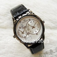 Watch male strap mens watch time watches double movement watch new arrival