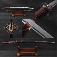 Art Present Japanese Katana Damascus Folded Steel Practical Samurai Sword * 704