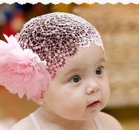 Free Shipping Fashion 1pc Mesh Double Flower Headband Headwear Hair Band, Cute Decorations Headband Headwear CL0342