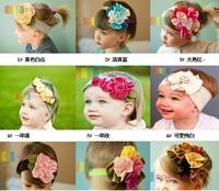 Free Shipping 1pc Fashion Classic Flower Hair Band Hair Decorations Ribbon Hair Accessories Headband Headwear, For Girl CL0343