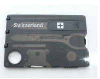 Free Shipping Switzerland Multifunctional Tool Multifunctional Business Card Camping Card With LED Lights