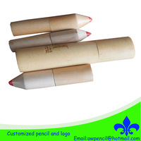 Customized  color pencils in pencil shape wooden  case,LH-392