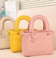 2014 summer leather diamond d brand women handbags kids children messenger bags women's vintage totes wallets candy colors