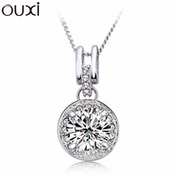 NLA026 2013 Origin of Universe of Love Pendant Necklace Cubic Zirconia Beads Thick White Gold Plated Free Shipping