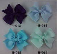 Girl hair accessories White Ribbon Flower Hairbow,cute Hairclip,Girl Hairpin, Baby Hairbow tail hairbows g50