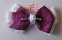 Girl hairbows grosgrain hairbow hairband hair band satin flwer Crochet headband baby hair bow no.f27