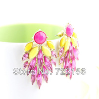 2013 New Style Wholesale Colorful Simulated Gemstone Fashion Design Drop Earrings for Women