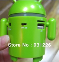 2pcs Free shipping wholesale TF card support Google Android mp3 Robot Mini speaker