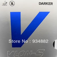 Free Shipping, Darker VLON-S ( VLON S, Blue V ) Black Pips-In Table Tennis Rubber With Sponge