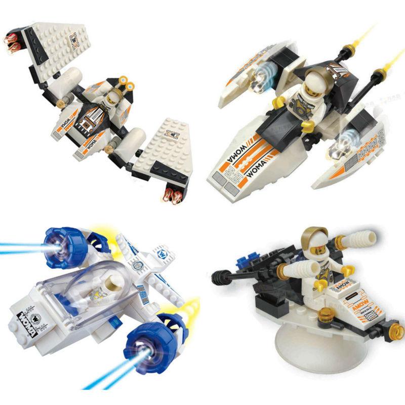 WOMA Star War 4pcs/ a lot Space shuttle Building Block Sets DIY Bricks Toys Educational Toys(China (Mainland))