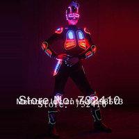 2013 new LED armor clothing Bright lightning light up dance costume EL fluorescent clothing night performance